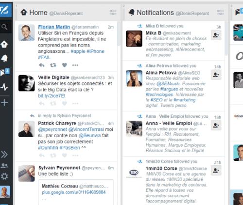 Tweetdeck, facilitez votre veille sur Twitter.