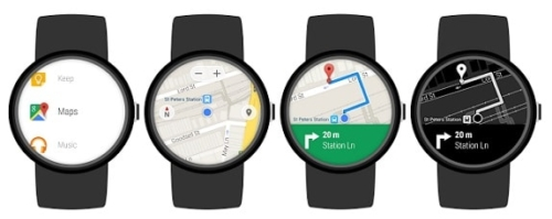 Google Maps dans une montre connectée