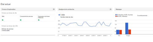 scan de l'accueil google search console