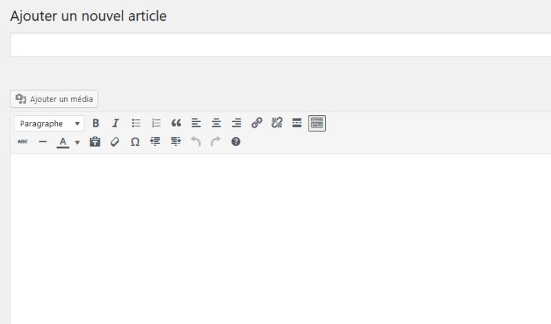 Editeur WYSIWYG de WordPress