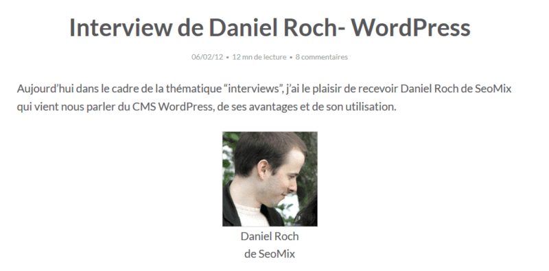 Interview Daniel Roch SEOMIX WordPress