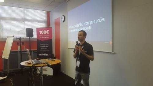 Conférence sur les outils SEO