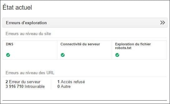 Erreur 404 dans Google Searh Console