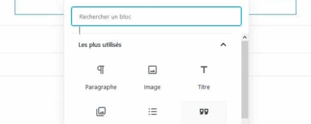 Blocs Gutenberg WordPress