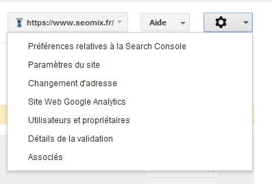 Search Console changement d'adresse