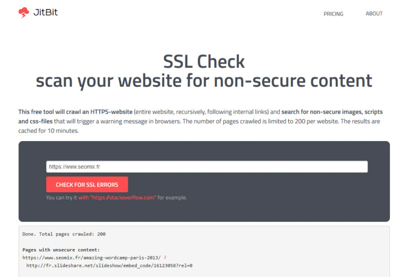 SSL Check pour pages HTTPS non valides