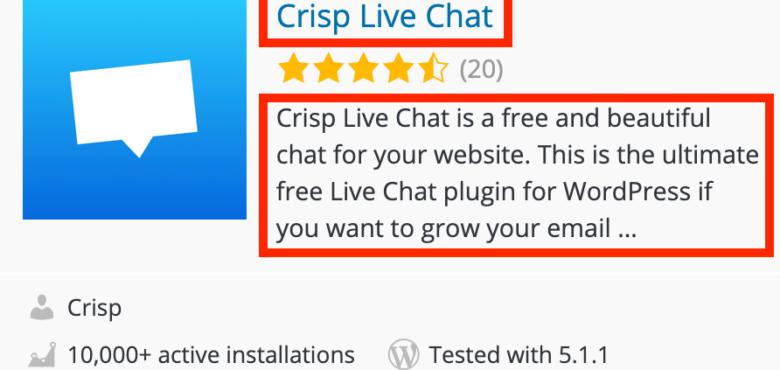 Description courte d'une extension WordPress