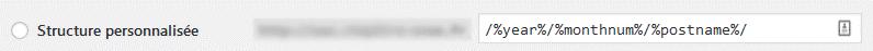 Paramétrage des permaliens de WordPress