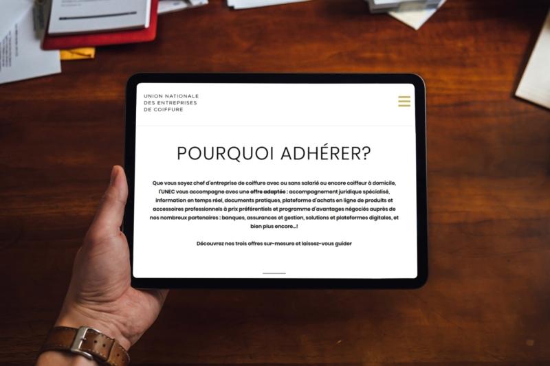 Création de site Internet sur tablette