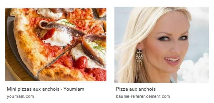 Résultat Google Image sur Pizza aux anchois