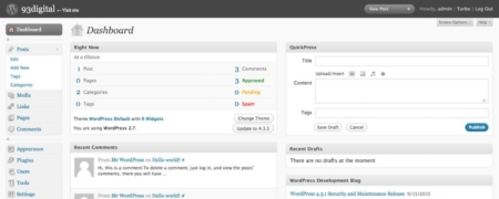 Administration de WordPress 2.7