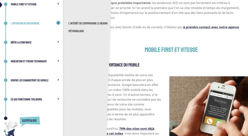 Sommaire personnalisé sur WordPress